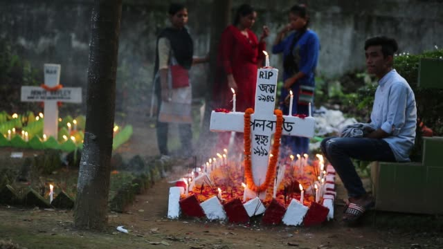 Bangladeshi Christian devotees observe All Souls' Day known as the Feast of All Souls Commemoration of all the Faithful Departed in Dhaka Bangladesh...