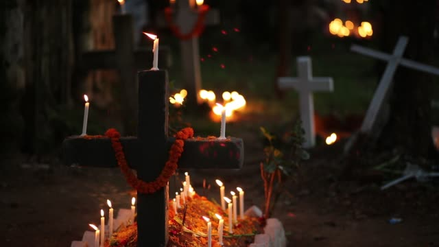 bangladeshi christian devotees observe all souls' day known as the feast of all souls commemoration of all the faithful departed in dhaka bangladesh... - bangladesh stock videos & royalty-free footage