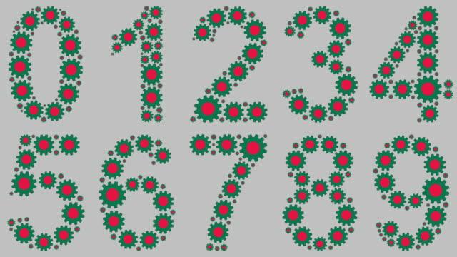 vídeos de stock e filmes b-roll de bangladeshi numbers set - número 4