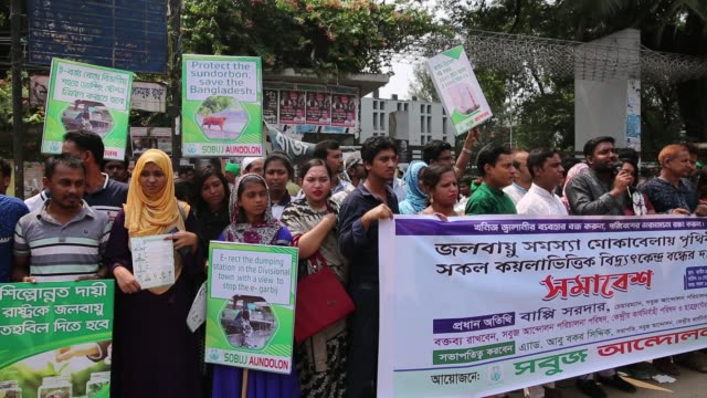 bangladeshi people gather to made protest against climate change in dhaka bangladesh on september 20 2019 in recent report scientist says by the end... - climate scientist stock videos & royalty-free footage