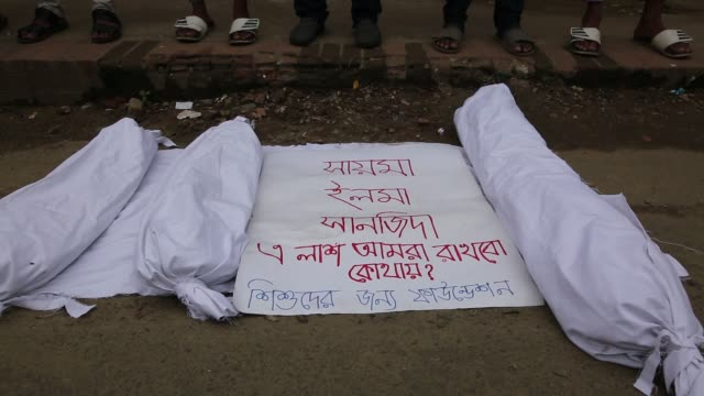 bangladeshi people made protest against child rape in dhaka bangladesh on july 10 2019 a 7 years old child raped and killed in old dhaka last week at... - baby girls stock videos & royalty-free footage