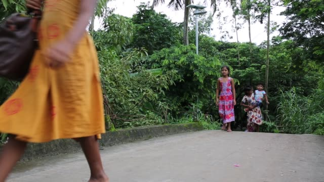vídeos de stock, filmes e b-roll de bangladeshi people walk on street in rural area near in dhaka bangladesh on july 27 2018 almost threequarters of the population live in rural areas... - planta d'água