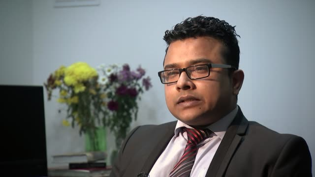 Bangladeshi PM refuses to answer questions on human rights record London INT Rasel Shariar interview SOT