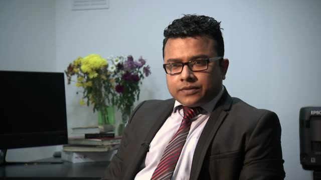 Bangladeshi PM refuses to answer questions on human rights record Rasel Shariar interview SOT Sheikh Hasina along