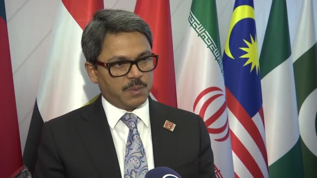 bangladeshi state minister for foreign affairs shahriar alam speaks to the media during the 17th session of d8 council of foreign ministers in... - rohingya culture stock videos and b-roll footage