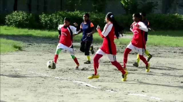 bangladeshi village football coach mofiz uddin only decided to form a girls team in 2011 out of frustration at the local boys failure to bring home... - only girls stock videos & royalty-free footage