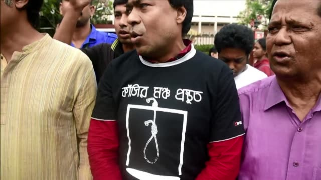 bangladeshs highest court rejects a final appeal by an islamist leader to overturn his death sentence for atrocities committed during the 1971... - hanging execution stock videos and b-roll footage