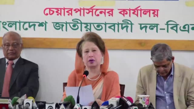 bangladesh's supreme court orders the release from detention of 72 year old opposition leader khaleda zia after her lawyers argued she was unwell - zia stock videos & royalty-free footage
