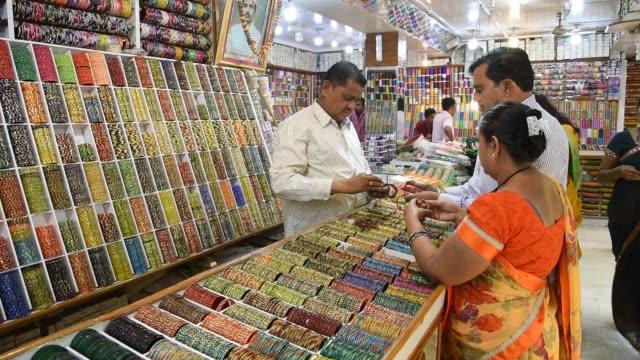 bangles store, mumbai, india. - selling stock videos & royalty-free footage