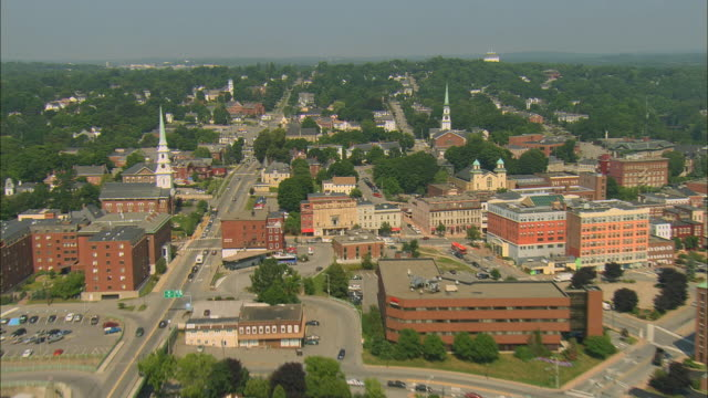 aerial, bangor, maine, usa - maine stock videos & royalty-free footage