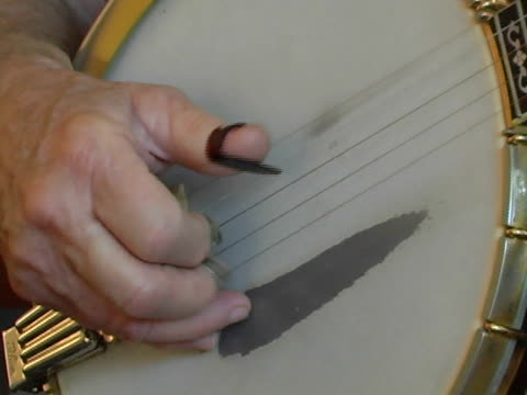 banjo close-up - string instrument stock videos & royalty-free footage