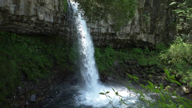 banjo waterfall in the izu peninsula (slow motion) - 滝点の映像素材/bロール