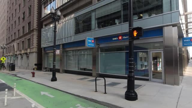 bank closed on saturday amid the 2020 global coronavirus pandemic. - bank stock videos & royalty-free footage
