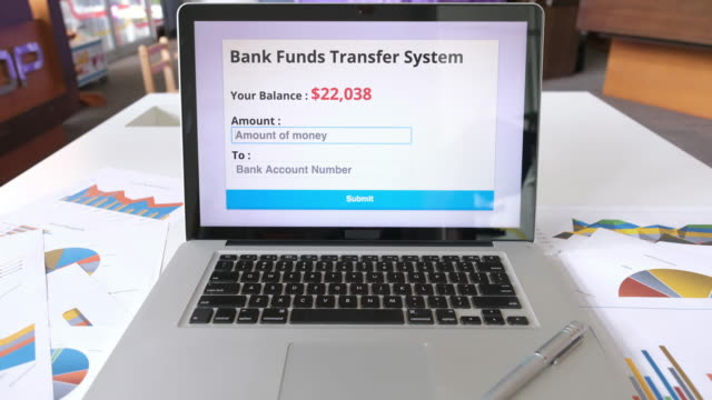 bank funds transfer system - bank account stock videos & royalty-free footage