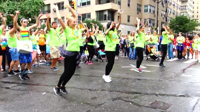 TD Bank group performs in front of the parade judges during the Annual New York City Gay Pride Parade / The parade celebrates the Supreme Court...