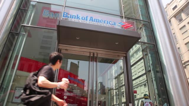 bank of america exteriors - バンクオブアメリカ点の映像素材/bロール
