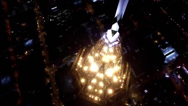 bank of america plaza building - atlanta [night] - atlanta stock videos and b-roll footage