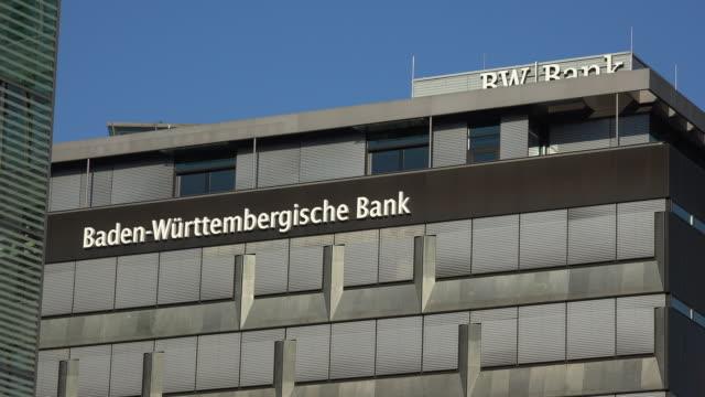 bank of baden-wuerttemberg, stuttgart, baden-wuerttemberg, germany - 英字点の映像素材/bロール
