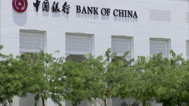 ms, tu, bank of china building, singapore - economia video stock e b–roll