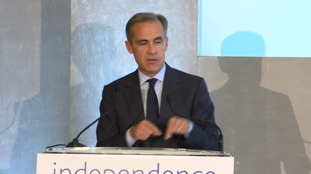 Bank of England '20 Years On' conference Mark Carney closing speech ENGLAND London Bank of England INT Mark Carney speech SOT re success of...