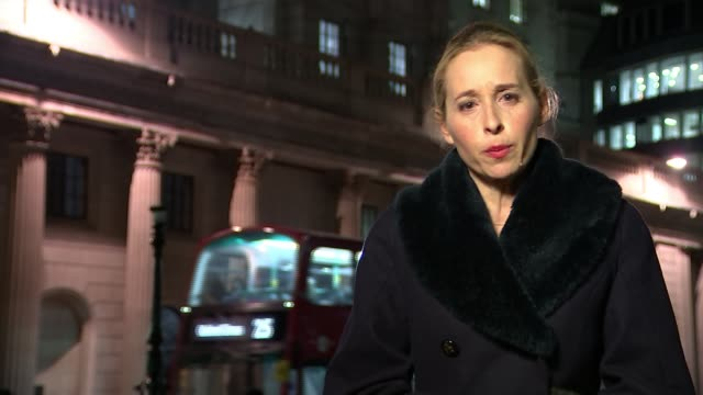 bank of england deputy governor resigns after mps say her 'professional competence falls short' the city gvs bank of england at night/ int ruth... - tandem stock videos & royalty-free footage