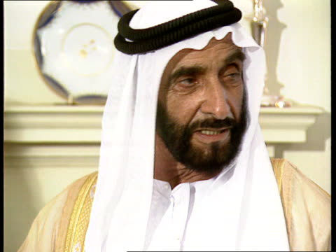 no 10 cms sheikh zayed bin sultan alnahayan itn - sultan stock videos and b-roll footage