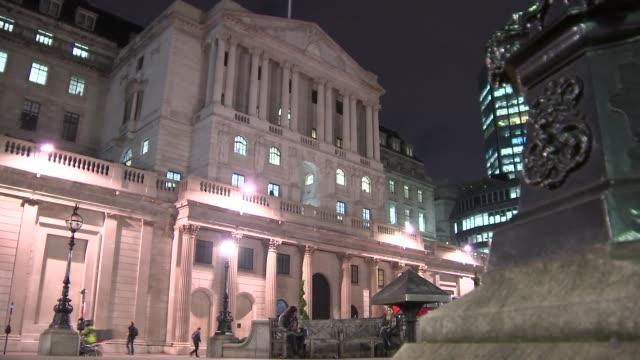 London Bank of England GVs Bank of England at Night
