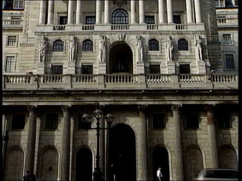 bank of england keep interest rates the same itv lunchtime news u'lay london bank of england tilt - itv lunchtime news stock videos & royalty-free footage