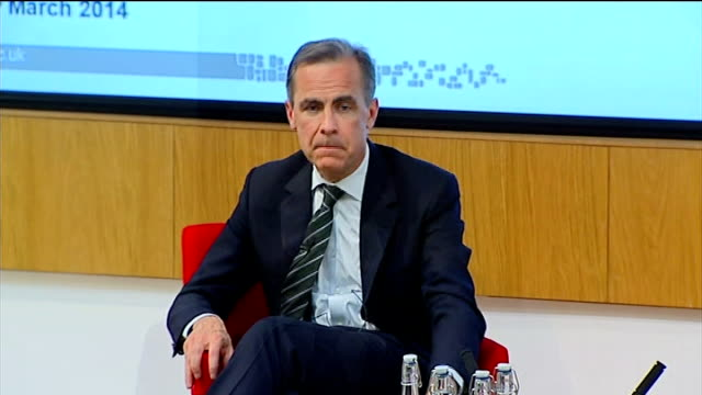 bank of england management reorganisation london cass business school int mark carney sitting taking a drink of water mark carney speech sot this... - stability stock videos & royalty-free footage