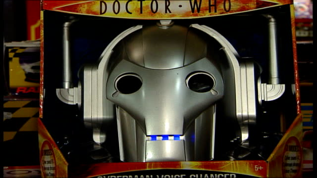 bank of england raises interest rate; 'doctor who' cyberman toy speaking sot - resistance is illogical you will be upgraded or you will be deleted... - doctor who stock videos & royalty-free footage