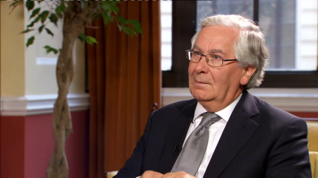sir mervyn king interview; england: london: bank of england: int q: about quantitative easing working now sir mervyn king interview sot - it would... - no doubt band stock videos & royalty-free footage