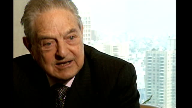 bank of england takes quarter of a point off interest rates usa new york int soros interview sot asset bubbles have to be controlled by authorities /... - muscular contraction stock videos and b-roll footage