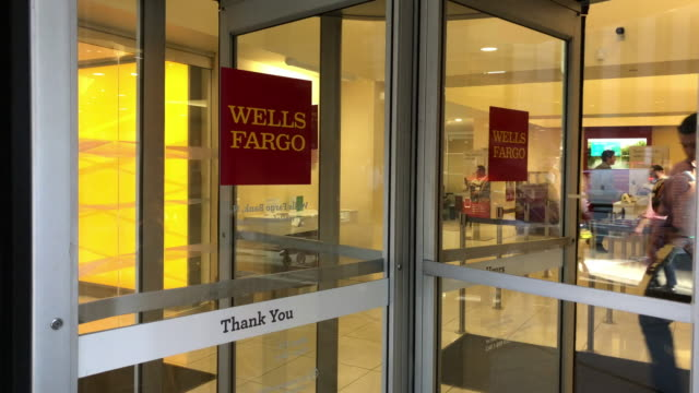 bank of wells fargo in new york city - wells fargo stock videos and b-roll footage