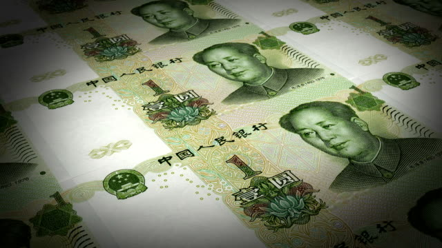 bank print chinese paper money - chinese currency stock videos & royalty-free footage