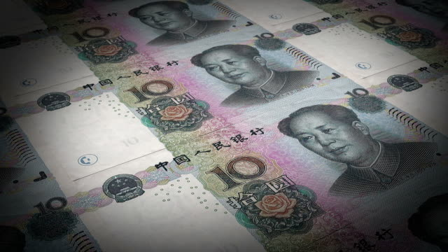 bank print chinese paper money - debt stock videos & royalty-free footage