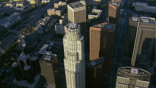 us bank tower in la financial district - us bank tower stock videos and b-roll footage