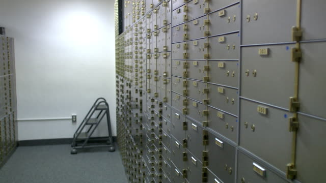 MS PAN Bank vault with safe-deposit boxes, Bethlehem, Pennsylvania, USA