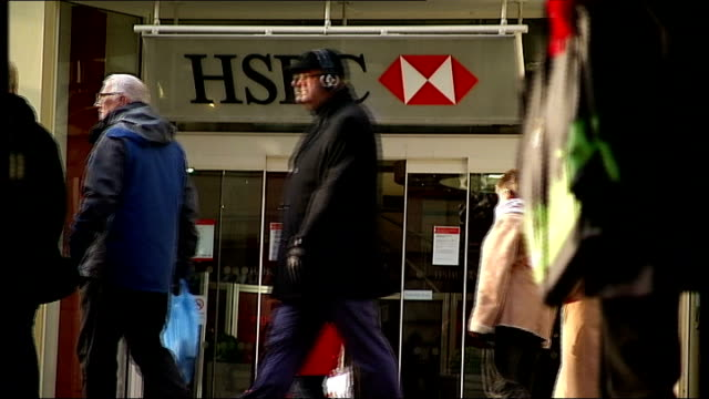 banks face billion pound compensation bill in new mis-selling scandal; unidentified location: daniel sangiuseppe set-up sitting at desk looking at... - banking sign stock videos & royalty-free footage