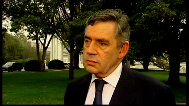 bradford and bingley close to collapse; usa: washington: white house: gordon brown mp interview sot - i never comment on individual companies/ we... - gordon brown stock-videos und b-roll-filmmaterial