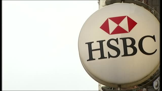 computer glitch delays payments; file / date unknown hsbc wall sign 'hsbc' on bank window - banking sign stock videos & royalty-free footage