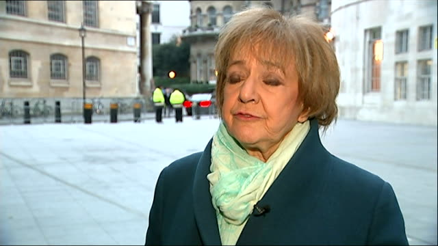 margaret hodge interview england london ext margaret hodge mp interview sot - マーガレット・ホッジ点の映像素材/bロール