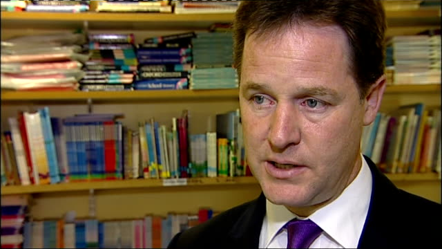 stockvideo's en b-roll-footage met rate fixing scandal nick clegg interview england int nicl clegg mp interview sot the buck always stops at the top/ i don't think it's for politicians... - steurgarnaal