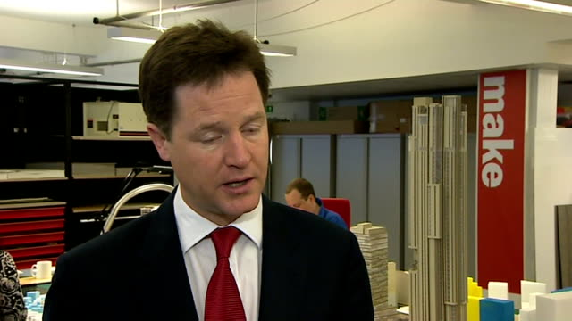 vidéos et rushes de rate fixing scandal: nick clegg interview; england: london: make architects: int nick clegg mp interview sot - not enough awareness or resources, not... - prime minister