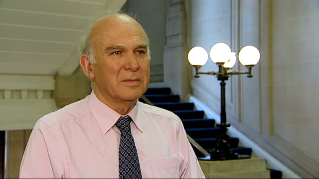 rate fixing scandal: vince cable interview; england: london: westminster: int vince cable mp interview sot - there is a very deep culture of greed... - doing a favour stock videos & royalty-free footage