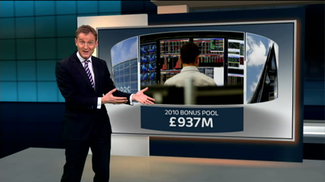 rbs announces loss of 35 billion pounds / coutts' faces swiss tax probe int ross mcewan setup shot with reporter / interview sot reporter to camera... - banking sign stock videos & royalty-free footage