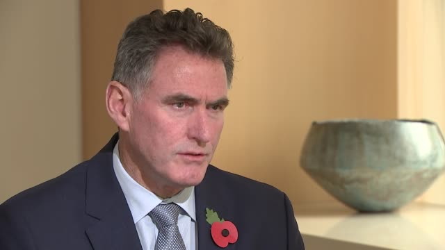 rbs apology to small business customers ross mcewan interview england london int ross mcewan interview for itv news sot - ロイヤル・バンク・オブ・スコットランド点の映像素材/bロール