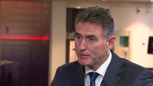 RBS reports losses of almost 2 billion pounds McEwan interview ENGLAND London INT Ross McEwan interview on the performance of RBS the pay and bonuses...