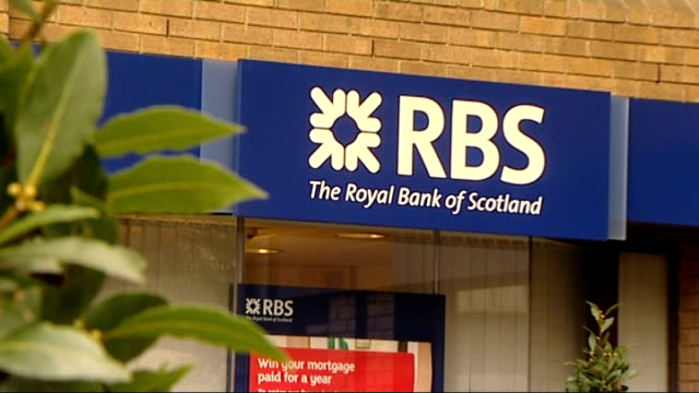 williams and glyn's bank to return to high street; r13101202 / rbs bank sign woman using rbs cash machine - banking sign stock videos & royalty-free footage