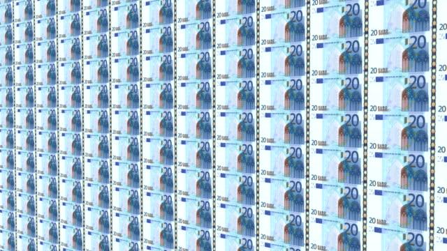 banknote von zwanzig euro - diagramm stock-videos und b-roll-filmmaterial