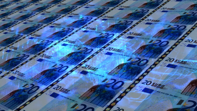 banknote of twenty euros - diagram stock videos & royalty-free footage